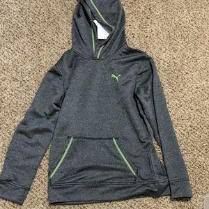 Boys puma solid melange hoodie